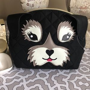 Betsey Johnson Super Cute Puppy Cosmetic Bag